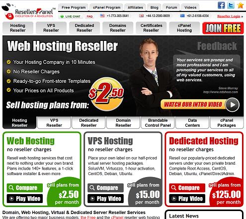 RESELLERSPANEL.COM Revende Alojamiento Web sin invertir